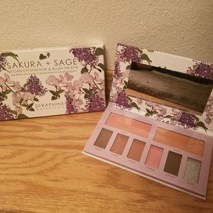 Seraphine botanicals eyeshadow and blush palette